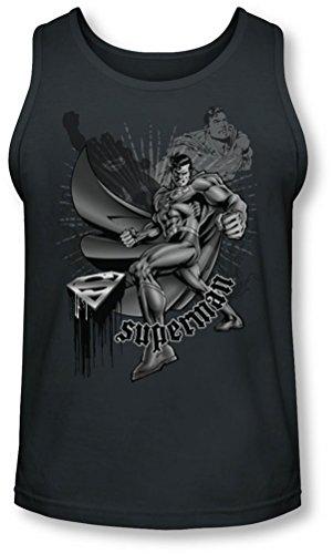 Superman - - Lutte Hommes Et Vol Tank-Top, Medium, Charcoal