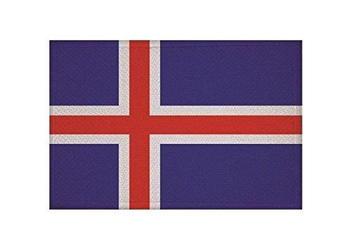 U24 Aufnäher Island Fahne Flagge Aufbügler Patch 9 x 6 cm