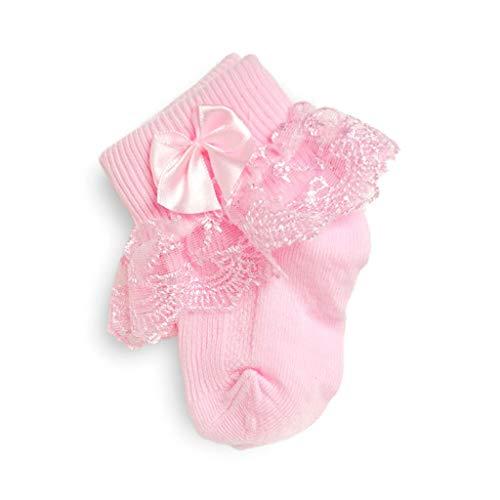 Manyo - Calcetines para bebé niña de encaje, calcetines...