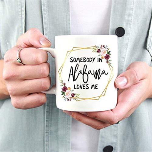 Taza de Alabama, taza de relaciones de larga distancia, Miss You, regalo de mudanza, taza de amor a ti, tazas de la amistad, regalo de amistad de larga distancia