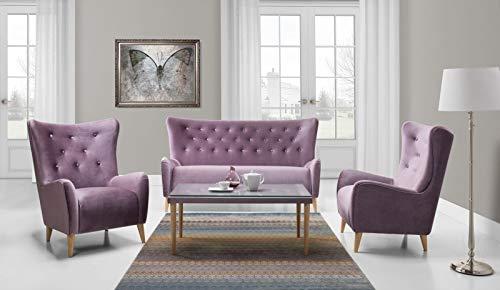 JVmoebel Sofagarnitur 2,50+1+1+Couchtisch Sofa Chesterfield Komplett Set Garnitur Couch