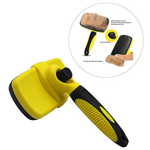 Allroll Pet Slicker Brush, Best Dog and Cat Grooming Brush for Shedding, Professional Pet Hair Remover, Reduces Shedding, Easy Self Cleaning, Easy to Use, Suitable for Long and Short Hair Types