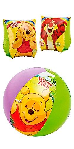 Eliware Intex Disney Schwimmball und Schwimmflügel | Winnie The Pooh-Bundle