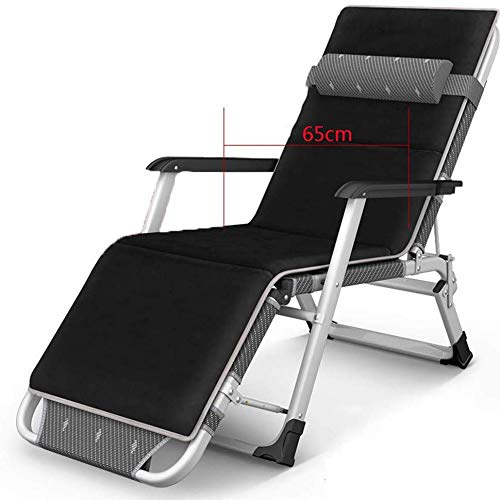 G-Lounge Chair Schwerelose Liege/Gartensessel/Entspannungsliege/Klappbarer Strandkorb /, Verstellbare, Abnehmbare Kopfstütze, Garten- / Pool- / Außenliege, Unterstützung 400 Kg, A