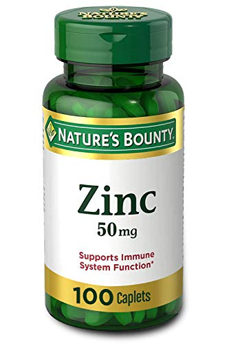 Nature's Bounty Zinc (Zinc Gluconate) 50 mg, 100 Caplets