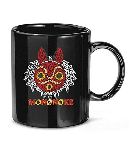 N\A Princess Mononokes Maske mit Schaufel Kaffeetasse für Frauen und Männer Teetassen