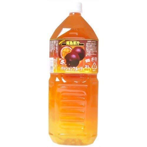南島果汁 パッションフルーツ 2L 5倍濃縮×1本 北琉興産 南国果実をおいしいフルーツジュースに カクテルベースやお酒の割り材、ドレッシングに 沖縄土産にも最適