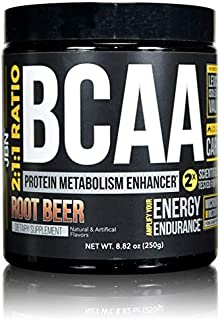BCAA Powder by JBN. 30 Servings, 2:1:1 Ratio with Cluster Dextrin. Root Beer Flavor. Leucine, Isoleucine, Valine. Ignite Protein Synthesis & Muscle Recovery Free Samples with Every Order