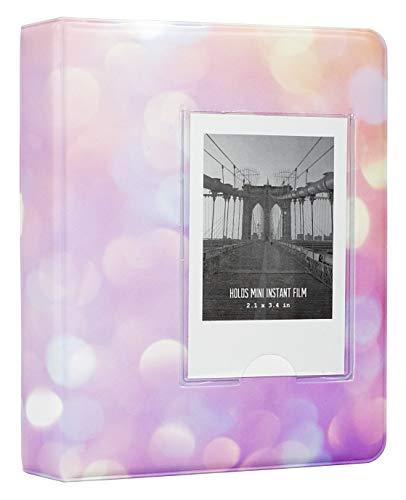 Yosuny Mini Album Schutzhülle 64 Taschen für Fujifilm Instax Mini Filme, für Mini 8+ Mini 9 Mini 11 70 90 25 50s 7s Liplay,Kodak/HP Sprocke/Snap (Sternenhimmel 4)