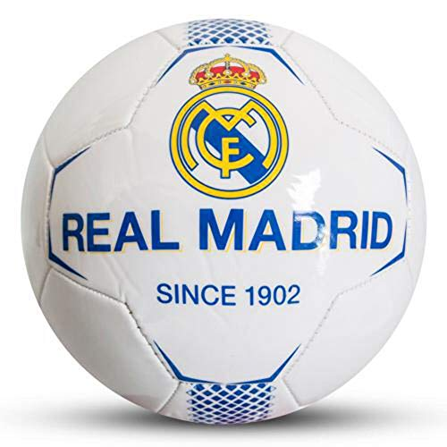 Real Madrid FC Since 1902 White Football Size 5 Faux Leather
