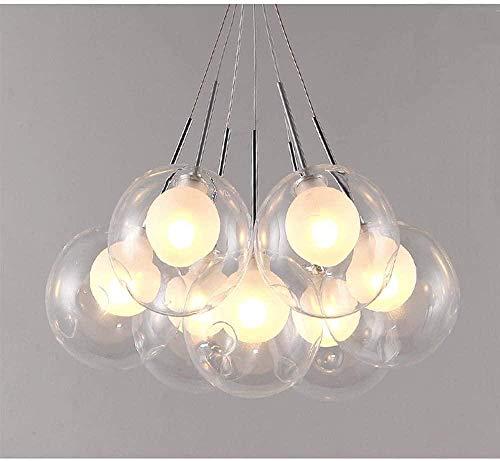 Lámpara colgante Bola LED Luz ambiental Metal Vidrio plateado Cristal 12cm * 12cm