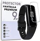 REY - 6X Protector de Pantalla para Samsung Gear FIT, protección rayaduras, roturas y Humedad.