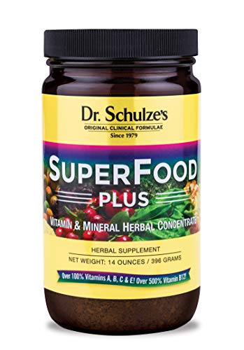 Dr. Schulze's Superfood Plus - Natural Herbal Product - 14 Ounce Powder