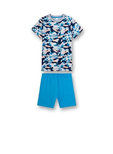 Sanetta Jungen Pyjama kurz Zweiteiliger Schlafanzug, Türkis (türkis 5641), (Herstellergröße:116)