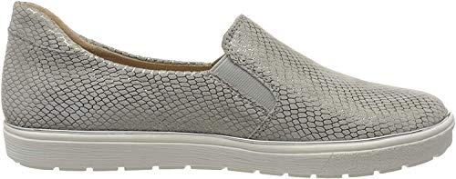 Caprice Damen Manou Slip On Sneaker, Grau (Lt Grey Snake 255), 41 EU