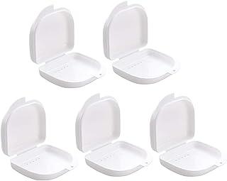 Healifty ベントホール付きデンタルケースマウスガードケースデンタルリテーナボックス5個(白)