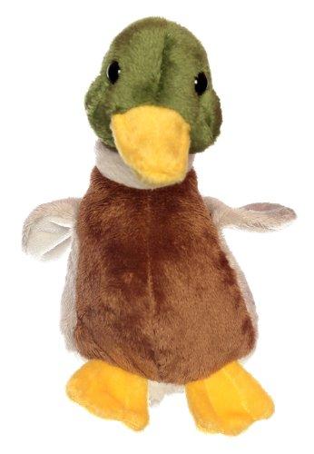 Teddys Rothenburg Kuscheltier Ente mit Sound 18 cm sitzend braun/grau/grün Plüschente