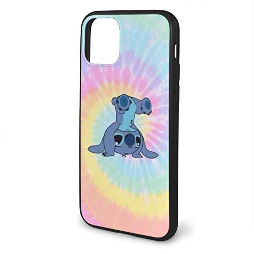 Fashion888 Colorfull Stitch Compatible para iPhone 11 12 Pro MAX XR XS MAX 6/7/8 Plus SE 2020 Funda para teléfono Negra Funda para teléfono móvil