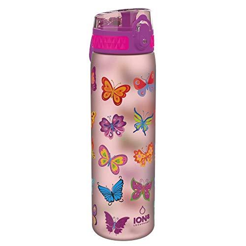 Ion8 Kids Slim Water Bottle, Butterfly, 600ml