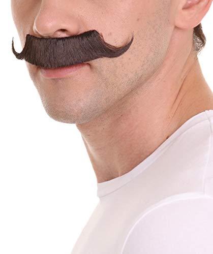 HPO Men's Dr Egg Head Mechanical Genius Curly Mustache Brown