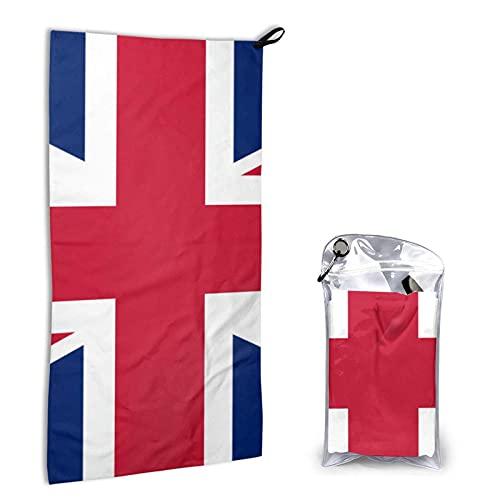 DJNGN Bandera británica Gran Bretaña Inglés Inglaterra Toallas de Playa de Secado rápido para Viajes - Toalla Absorbente para Nadadores, Toalla sin Arena - Toallas de Playa para niños Adultos