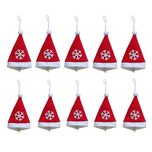 byou Mini kerstmuts, kerstmuts 10 stuks zakmes vork tas voor Xmas Silverware houder snoepgoed afdekkingen wijnfles decor