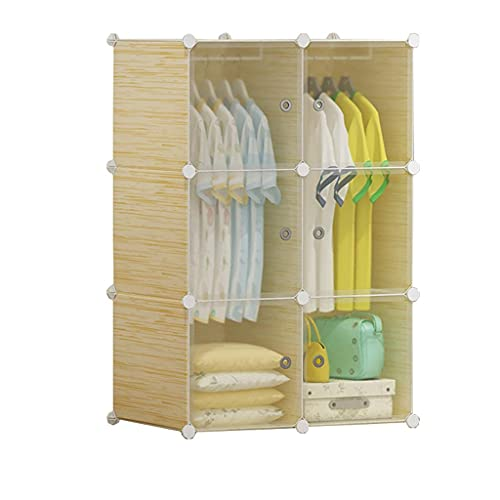 JIAWYJ XIAOJUAN Closet Casual Wardrobe Locker 2-Hanging Organizer Almacenamiento de plástico con Las estanterías de Soportes Ropa más Profunda Tranquín de la habitación de pie (Tamaño: 11 1X47X147CM)