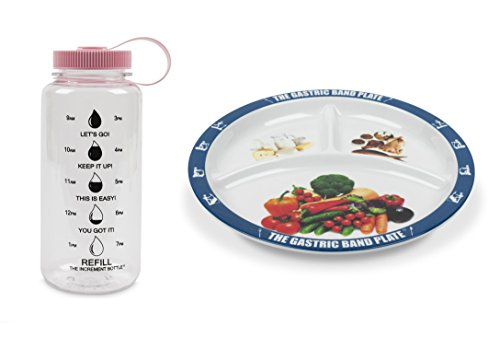 The Gastric Band Plate Increment Bottle Pink Summit Beaker Diet Slimming Weight Loss Set