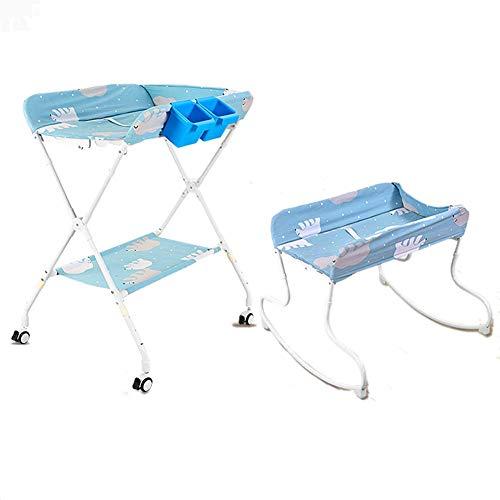 Baby luiertafel Neonatale zorg massage tafel Opvouwbare Multifunctionele Change Pad Cover draagbare baby douche station Variabele wieg Hoogte 3-speed Verstelbaar voor 0-3 Jaar Oud Met Universele Wh
