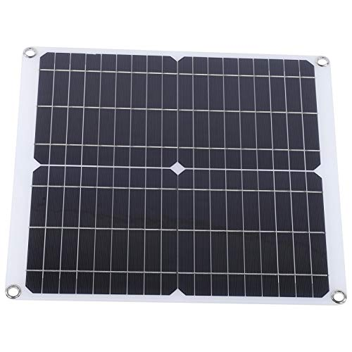Cargador de batería solar DIY Mochila Panel solar doble USB estable 20W 18V Panel solar para carga de automóviles con protección contra sobrecarga