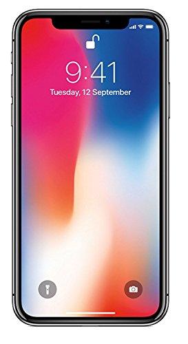 Apple iPhone X 64GB - Space Grey - Unlocked (Renewed)