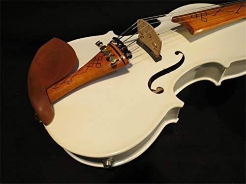 Modelo hecho a mano MEJOR ORIGINAL SONIDO VIOLIN DE VIOLIN BLANCO 5 CALIENTES 4 4 Piano de violín eléctrico suelto SHANDZ