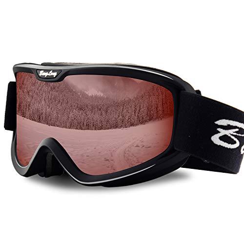 BangLong Gafas de esquí Gafas de snowboard Lente Anti-vaho OTG Protección UV Gafas de nieve Gafas para mujeres Hombres Snowboard Esquí Deportes de invierno, esquí, patinaje
