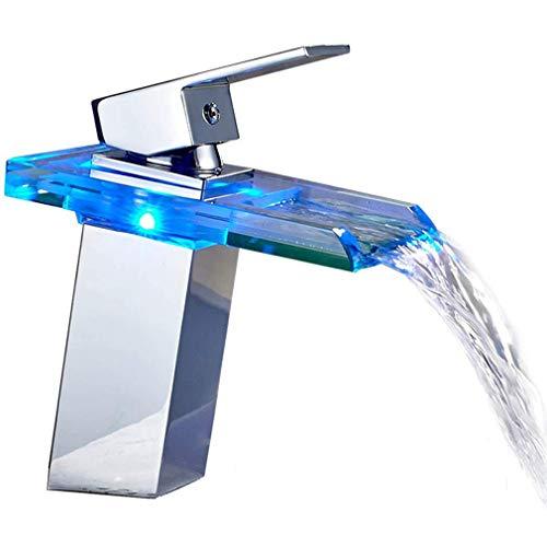Auralum LED RGB Grifo Mezclador Monomando Para Lavabo grifo baño monomando...