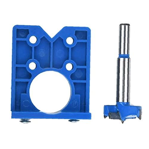 Hinge Drilling Concealed Hinge Drilling Jig Bit 35MM Hole Puncher Locator Opener for Cabinet Hinges Door Window,Tool Accessories