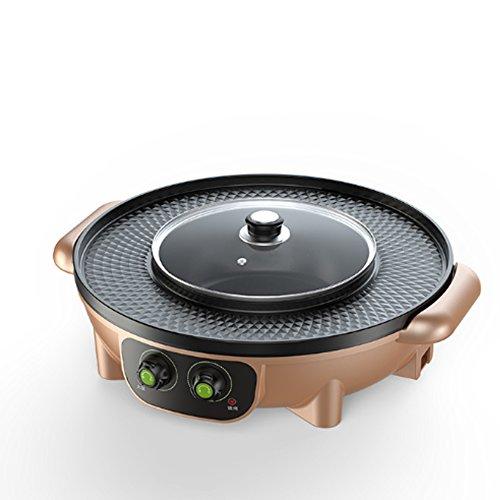 YJIUJIU Multifonction Barbecue Pot Double Pot Électrique Chaud Pot...
