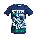 SALT AND PEPPER Jungen Tractor Uni Glowing T-Shirt, Classic Blue, 104-110