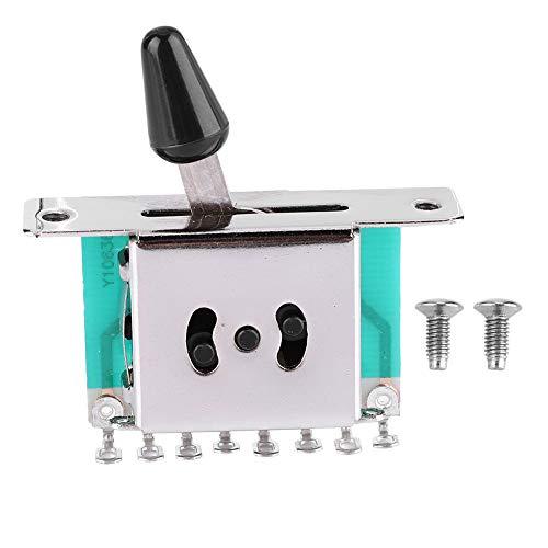 Guitarra Interruptor de palanca de 5 vías Selector de pastilla Interruptor de...