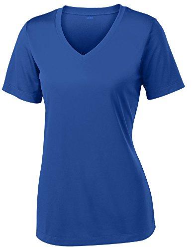 Opna Women's Short Sleeve Moisture Wicking Athletic Shirt, Medium, Royal