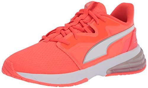 PUMA Women's LVL-UP Cross Trainer Sneaker, Fiery Coral White, 8