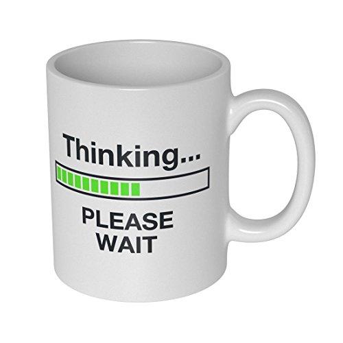 getDigital Thinking Becher Tasse für Nerds und Geeks, Keramik, weiß, 10 x 10 x 10 cm