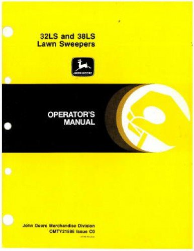 OMTY21586 Used John Deere 32LS And 38LS Lawn Sweepers Operator Manual