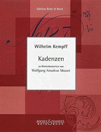 Kadenzen: zu Klavierkonzerten von Mozart. Klavier.