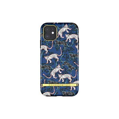 Oferta de RICHMOND & FINCH Diseñada para iPhone 11, Leopardo Azul Fundas, a Prueba de Golpes, Cubierta Protectora Probada
