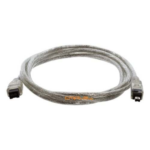 Cmple - 6FT Bilingual FireWire 800/Firewire 400 Cable - IEEE 1394 High Speed Firewire 9 Pin to 4 Pin Cable for MacBook