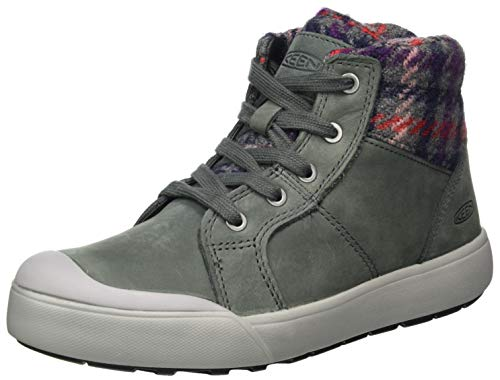 KEEN Women's Elena Mid Height Ankle Boot Hiking, Pewter/drizzle, 10.5