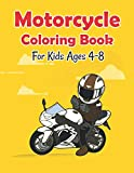 Motorcycle Coloring Book For Kids Ages 4-8: Motorcycle and Bike Coloring Book For kids Ages 4-8 with Motocross Bike, Race motorcycle, Mountain Bike, ... pages unique illustration for men boys