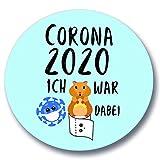 """Polarkind Button divertente spilla con scritta in lingua inglese """"Ich war mitr"""" - acquisti di criceto - carta igienica/pasta/virus della Corona 2020"""
