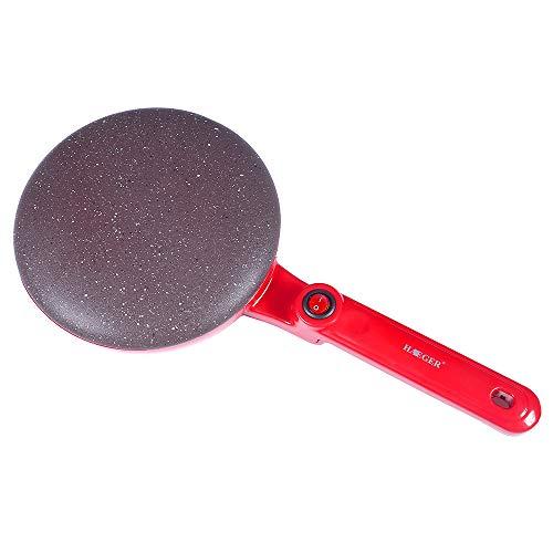 DIYARTS Crepe Maker eléctrico Antiadherente para Pizza Pancake Placa de cocción Food Grade Revestimiento Antiadherente Cocina Herramienta de cocción para Blintzes Huevo Bacon