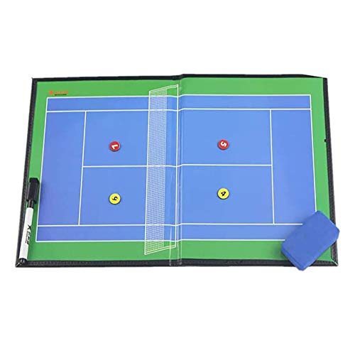 Boards Tennis Coaching Coaches Clipboard Tactical Magnetic Kit with Dry Erase, Marker Pen (Tennis Marker 21cm x 27cm